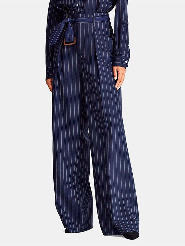 Pantalones palazzo de raya diplomática