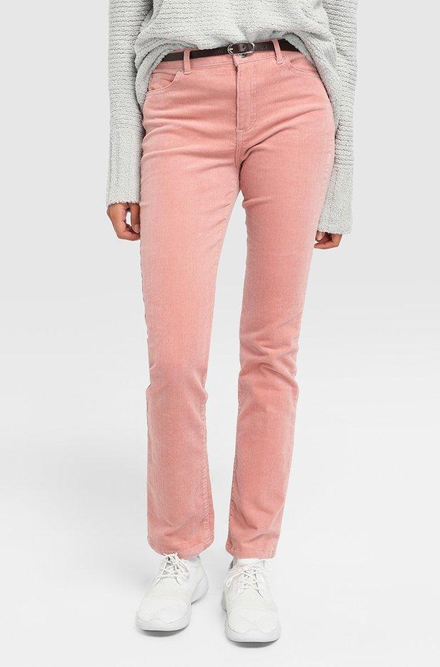 Pantalón rosa de pana