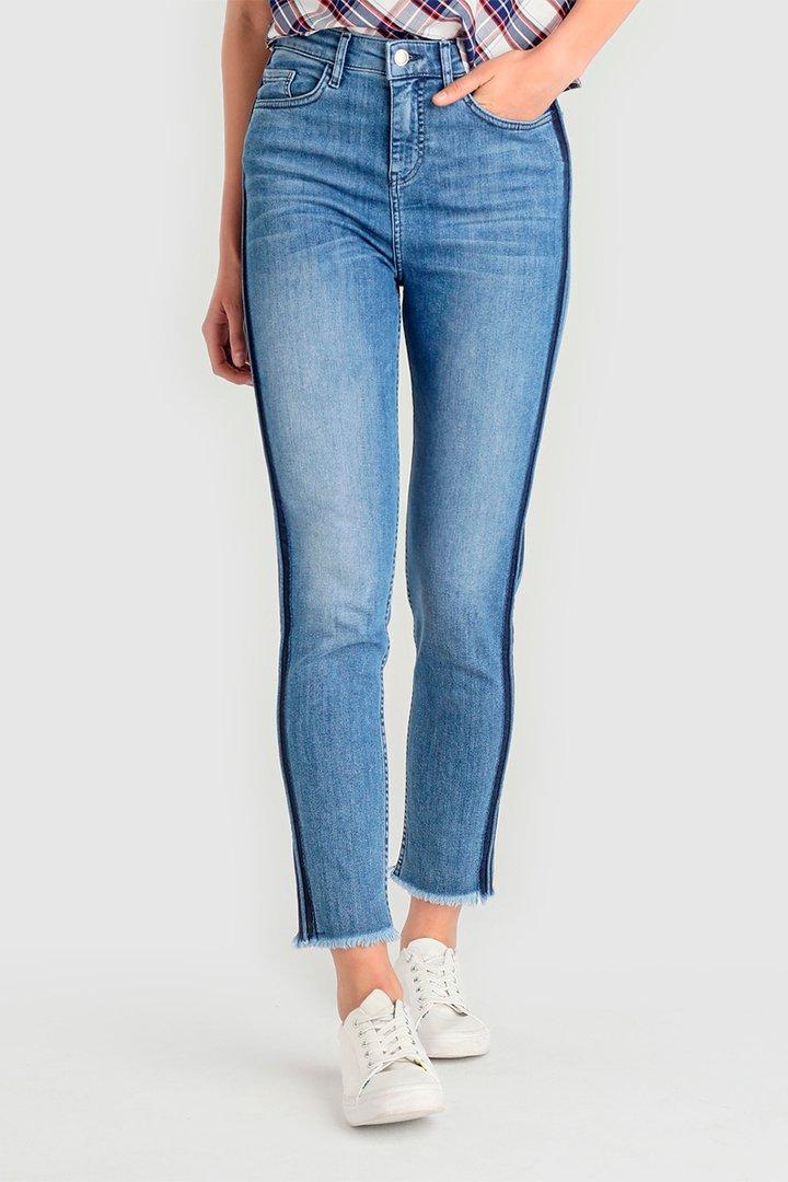Pantalones vaqueros con banda lateral
