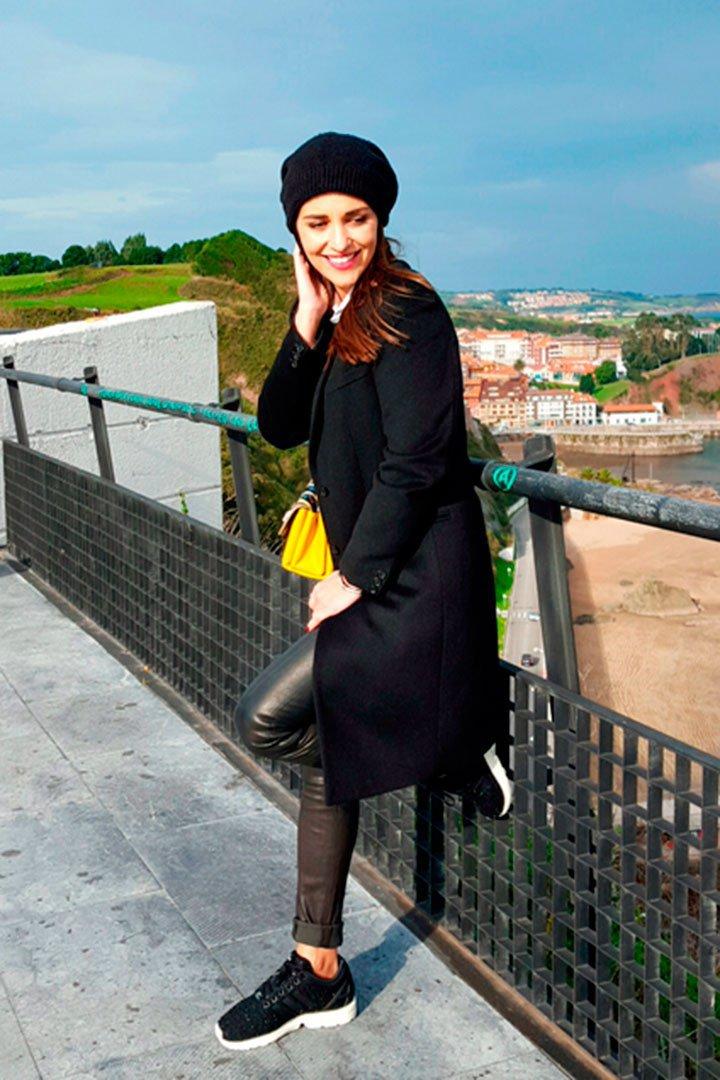 Paula Echevarría con look en negro