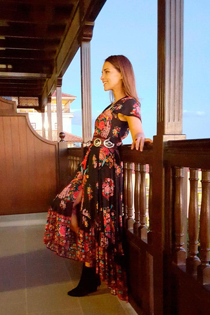 Paula echevarria vestido largo rojo