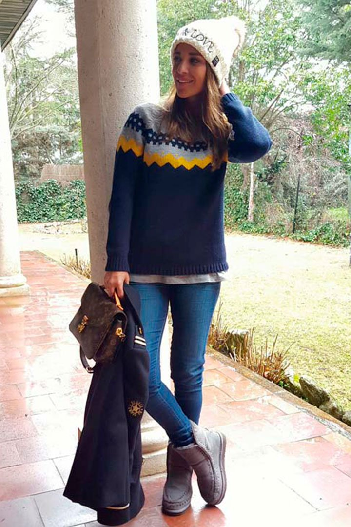 Paula Echevarría con look invernal