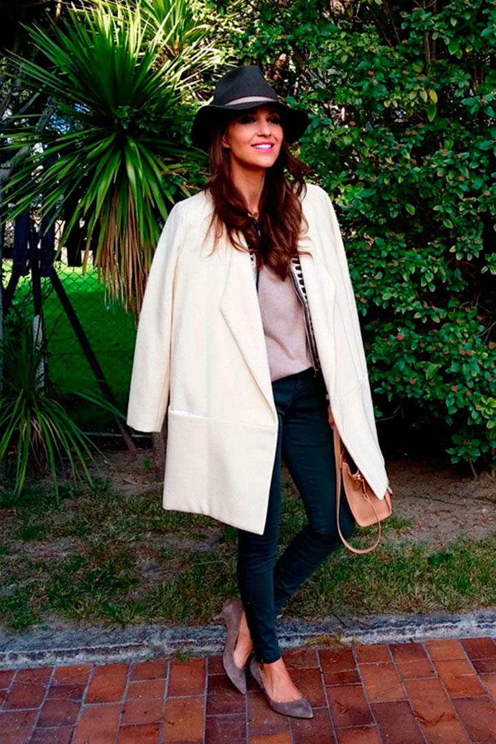 Abrigo para vestido blanco y negro