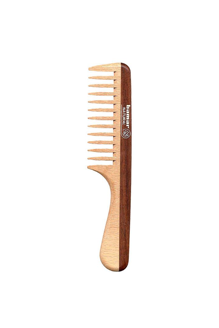 pelo brillante peine madera