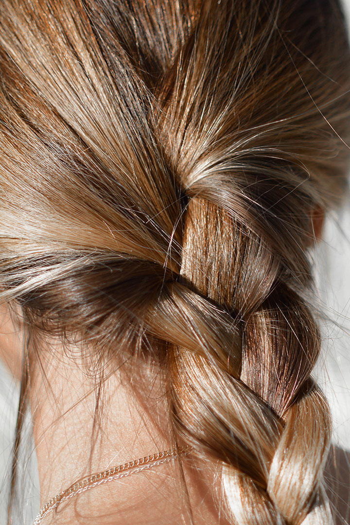 pelo brillante trenza anti enredos