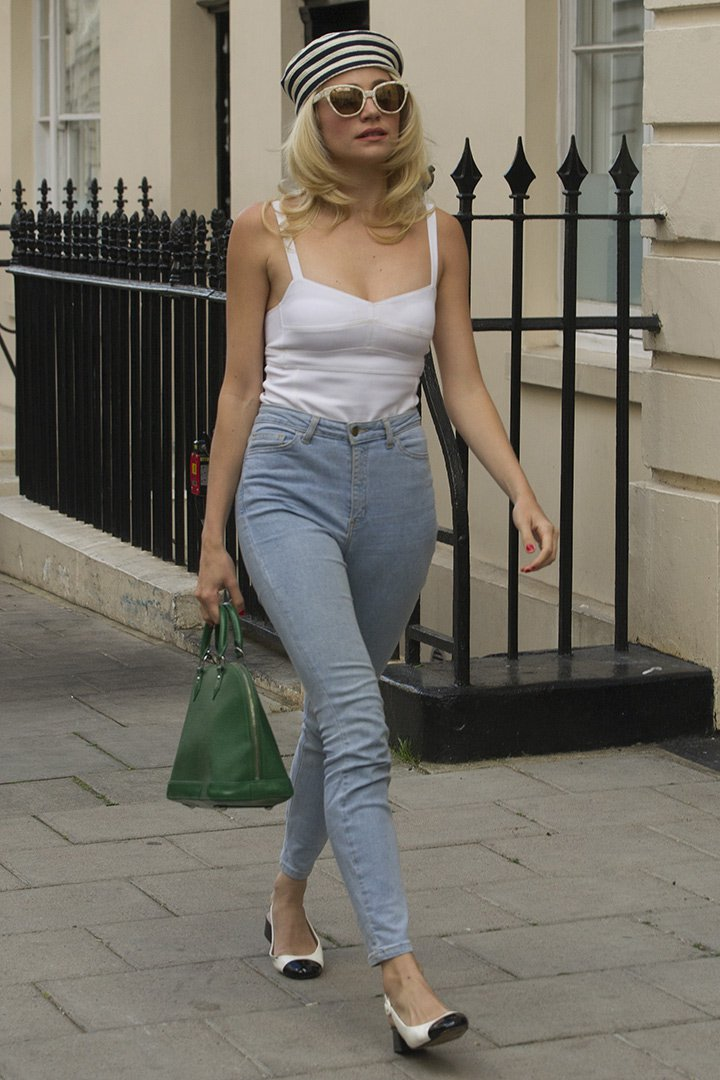 Pixie Lott con mom jeans