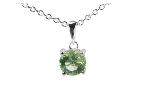 Colgante con cristal verde