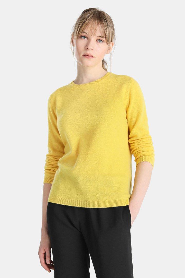 Jersey de cashmere amarillo de El Corte Inglés
