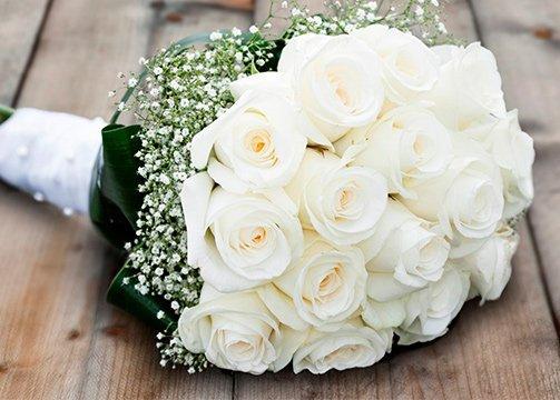 Ramo blanco de boda