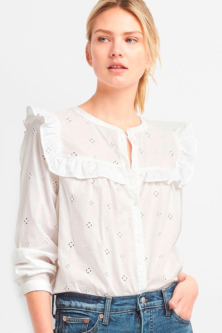 Camisa blanca de las rebajas de verano de El Corte Inglés
