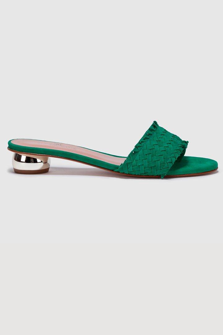 Sandalias verdes de las rebajas de verano de El Corte Inglés