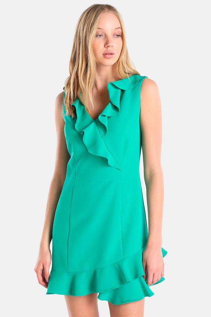vestido verde de las rebajas de verano de El Corte Inglés