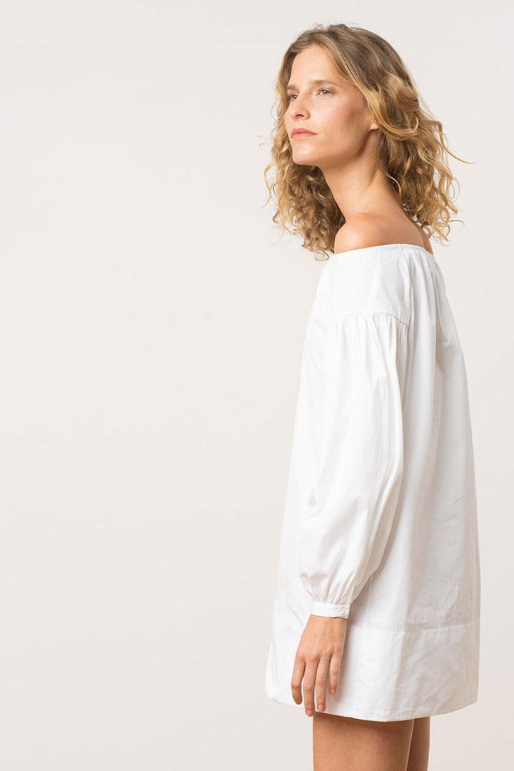 Vestido de rebajas de Uterque blanco
