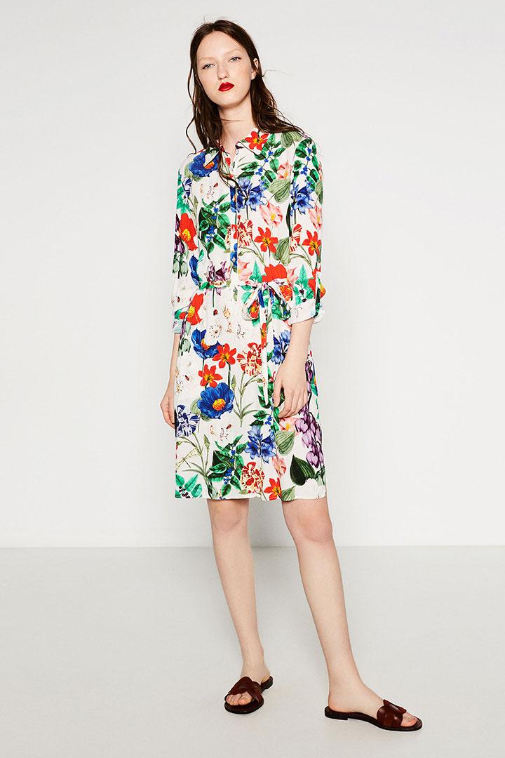 vestido camisero de rebajas en Zara