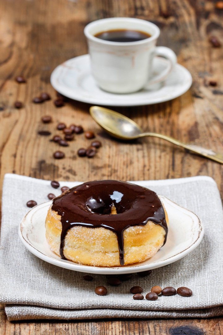 Chocolate: donut bañado