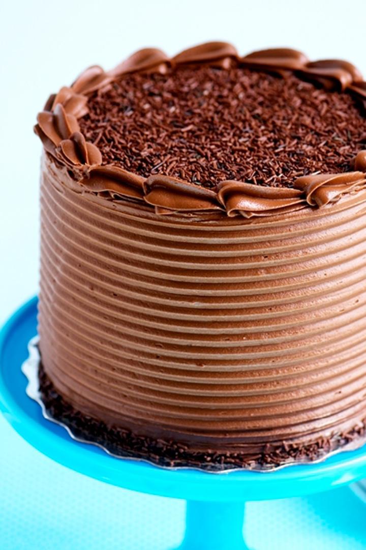 Tarta de niveles con crema de chocolate Nutella