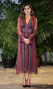La Reina Letizia con vestido de Intropia