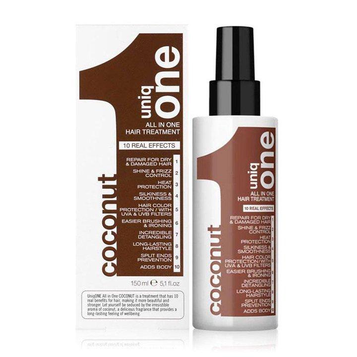 Uniq One Hair Treatment Coco de Revlon: productos ondas profesionales
