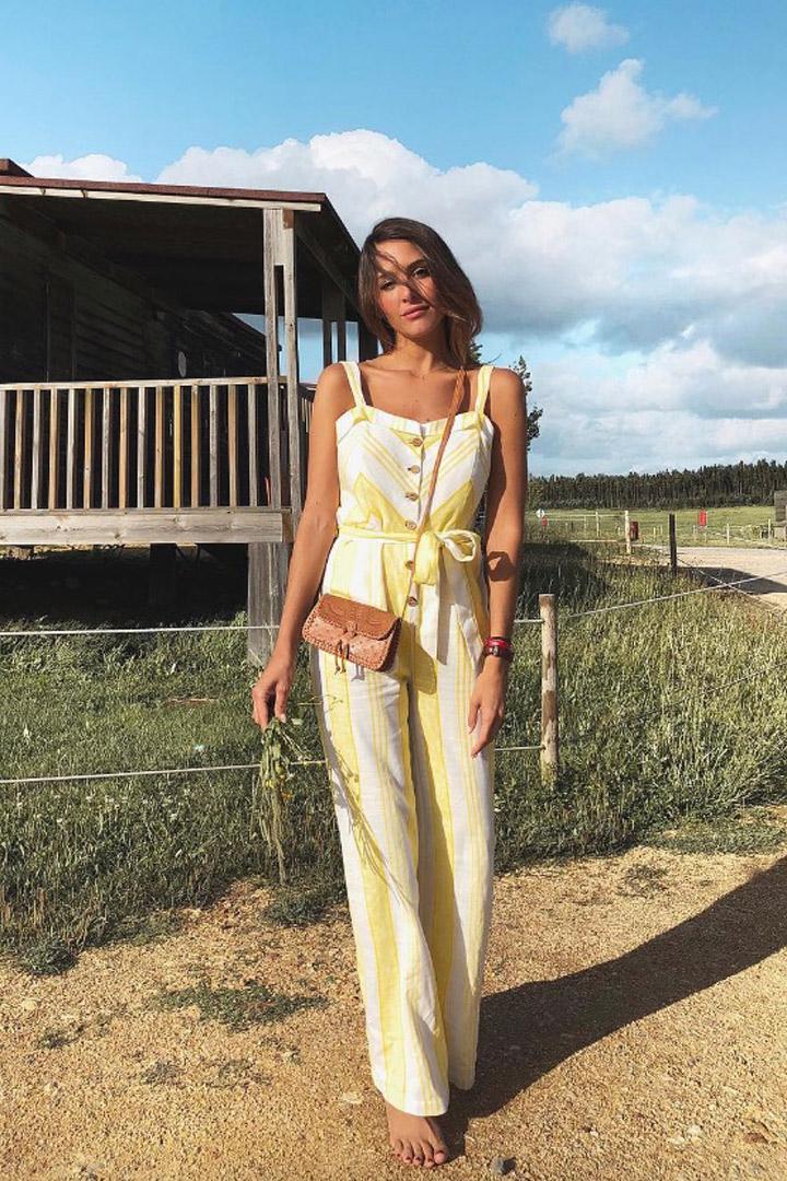 Rocío Osorno nos inspira con un mono blanco y amarillo: Ideas verano 2018