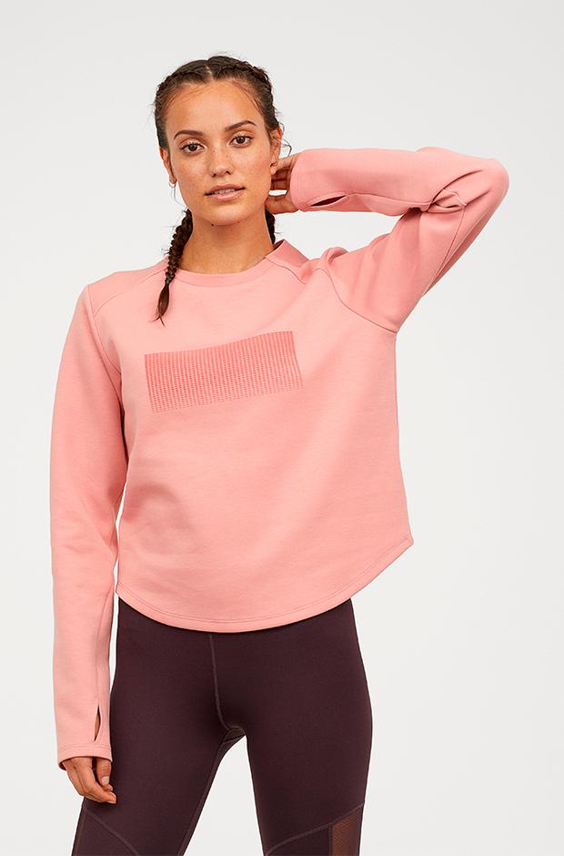 Ropa deporte invierno HM: camiseta rosa