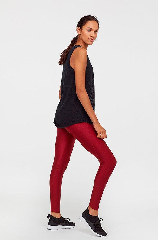 Ropa deporte invierno HM: leggings rojos