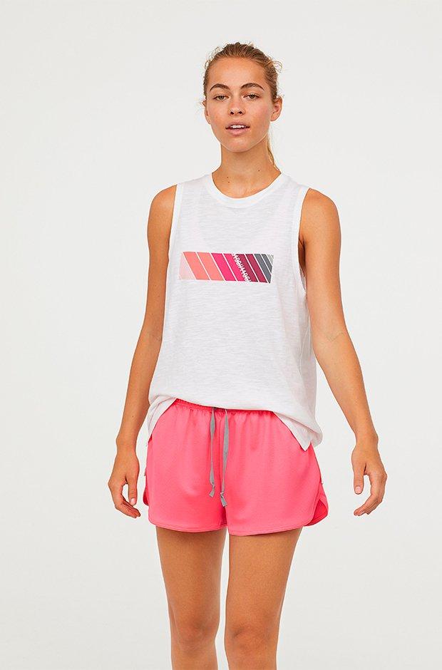 Ropa deporte invierno HM: shorts rosas