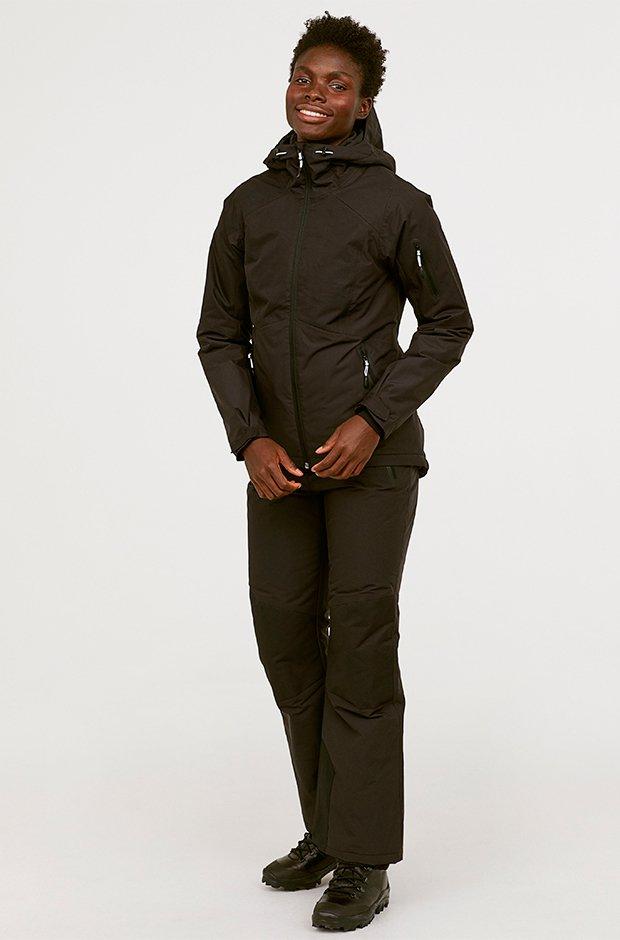 Ropa deporte invierno HM: pantalones negros de esquiar