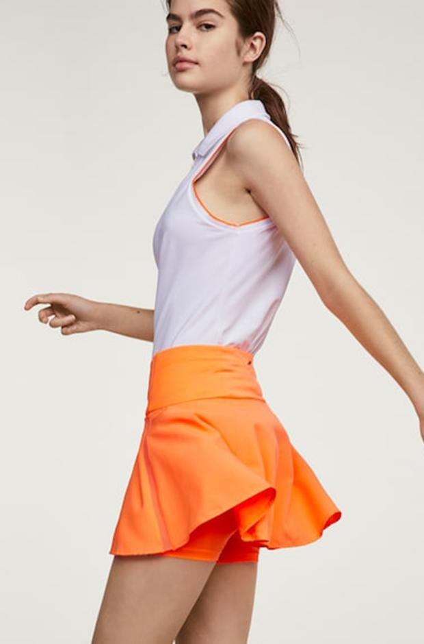Ropa deportiva de Oysho: falda de papel