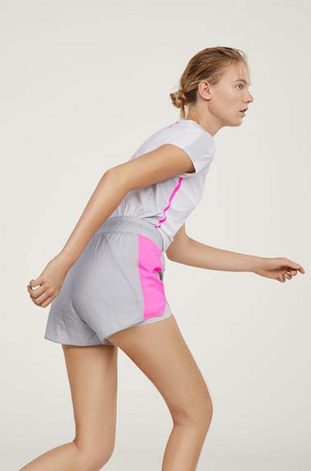 Ropa deportiva de Oysho: shorts grises