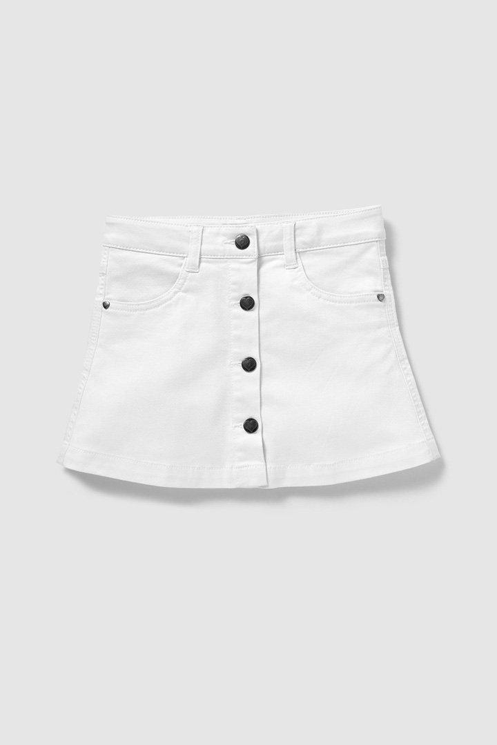Falda blanca para niña de El Corte Inglés