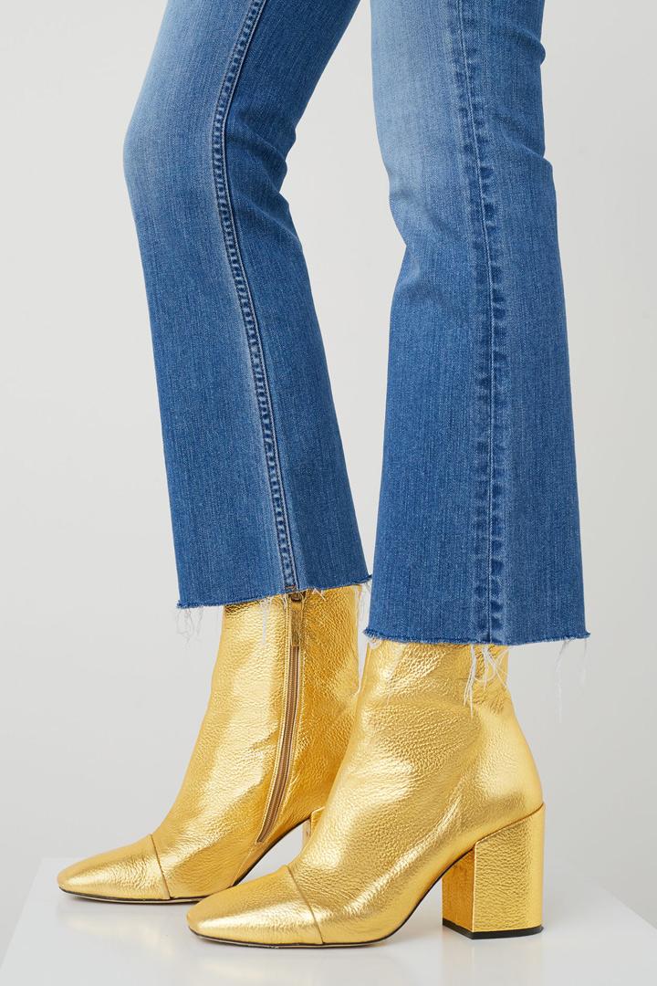ropa metalizada botines dorados