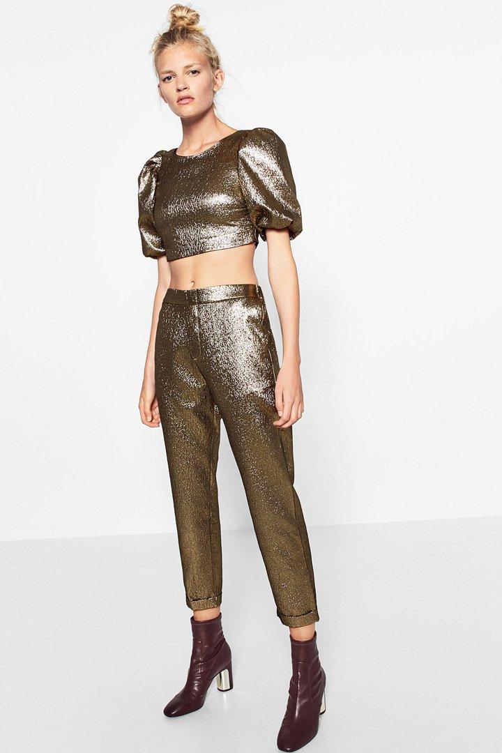 ropa metalizada conjunto
