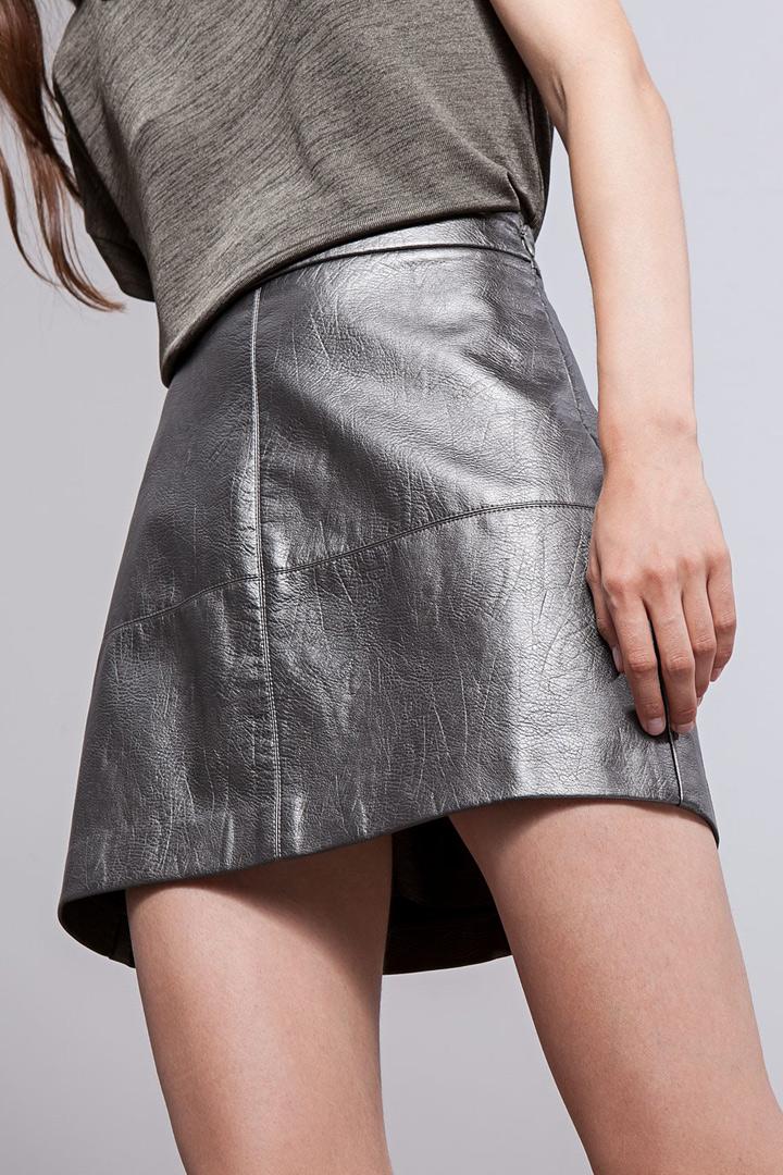 ropa metalizada falda metalizada