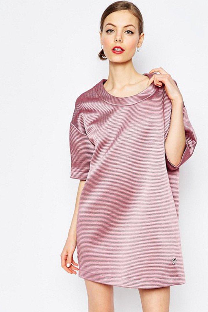 ropa metalizada vestido rosa