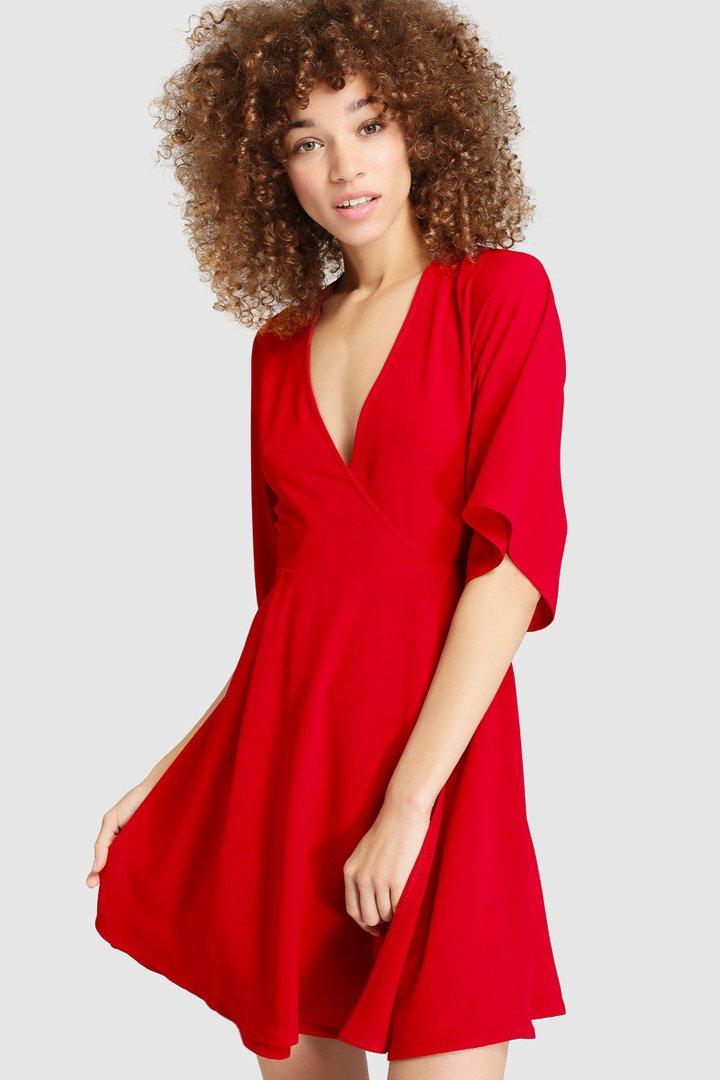ropa para Navidad con El Corte Inglés, vestido rojo easy wear