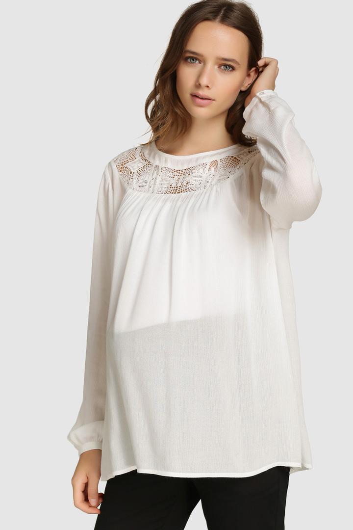 ropa para futuras mamás camisa blanca
