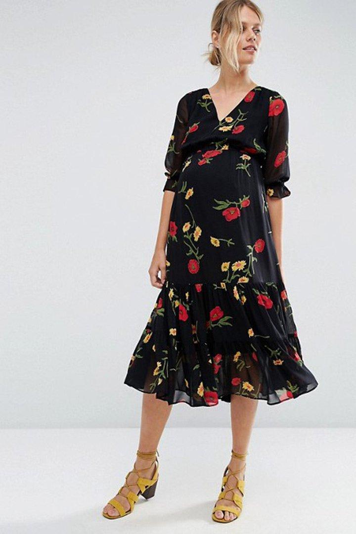 ropa para futuras mamás vestido de asos