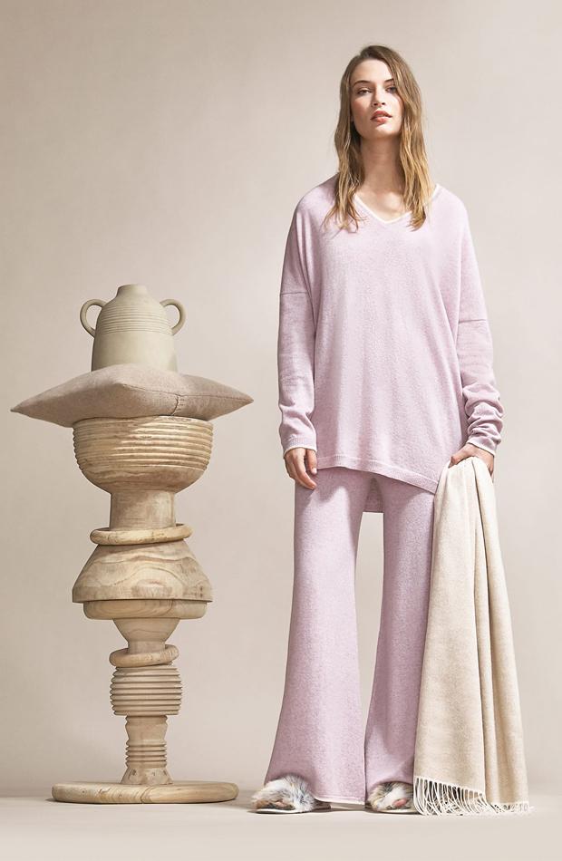 Pijama de cashmere en rosa de Zara Home: pijamas