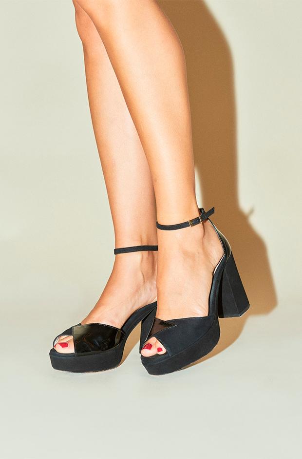 Sandalias negras de Rouje