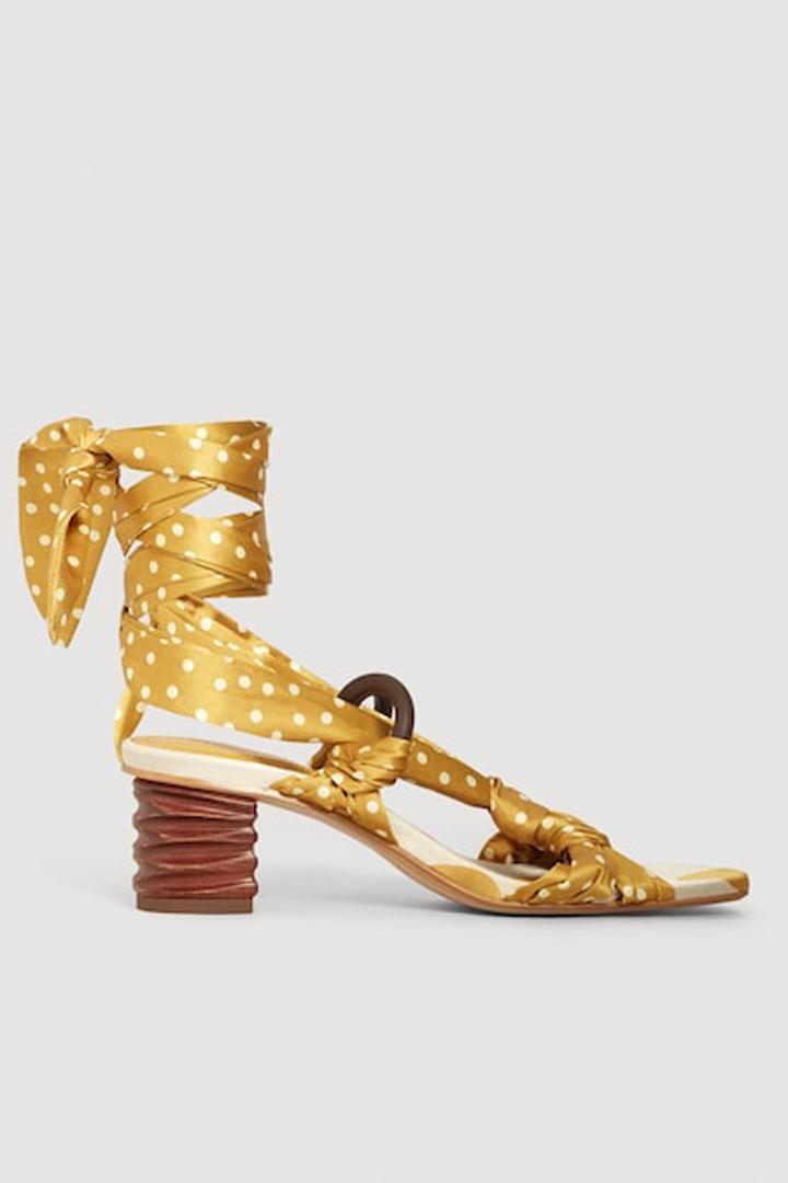 sandalia lazada lunares mango ropa