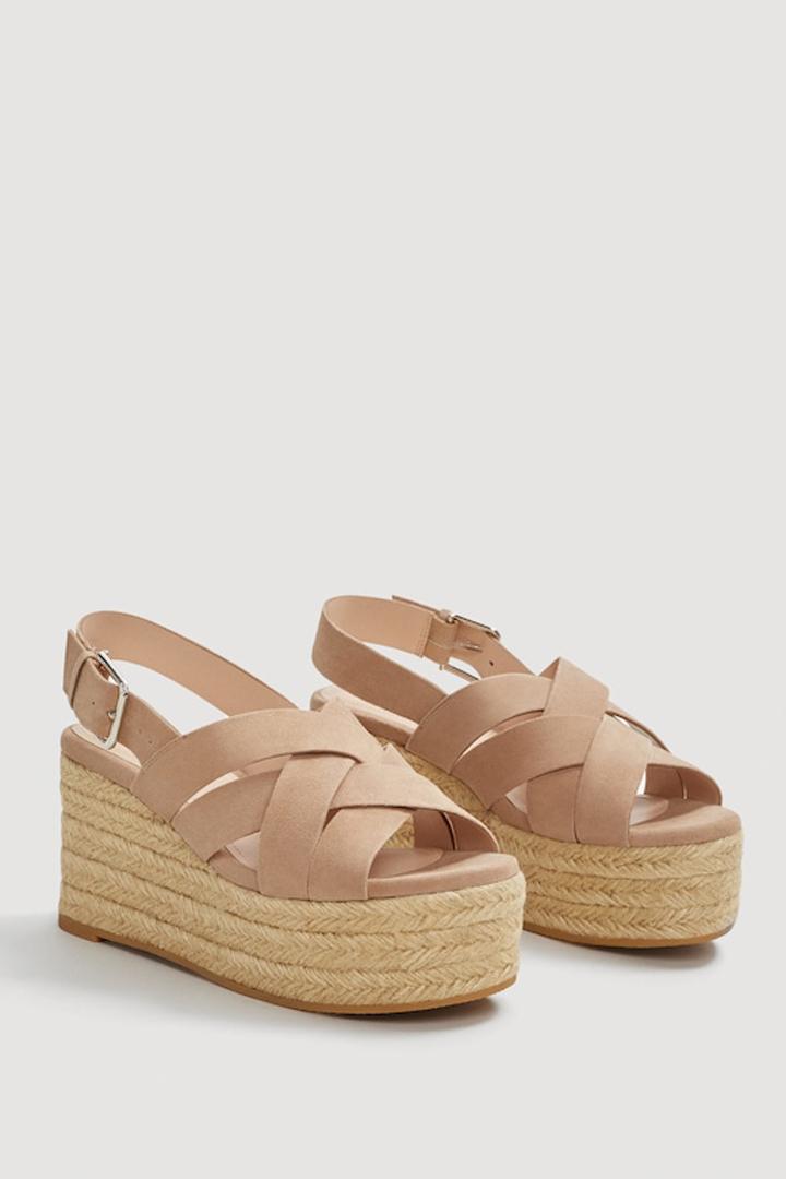 sandalia piel plataforma mango ropa