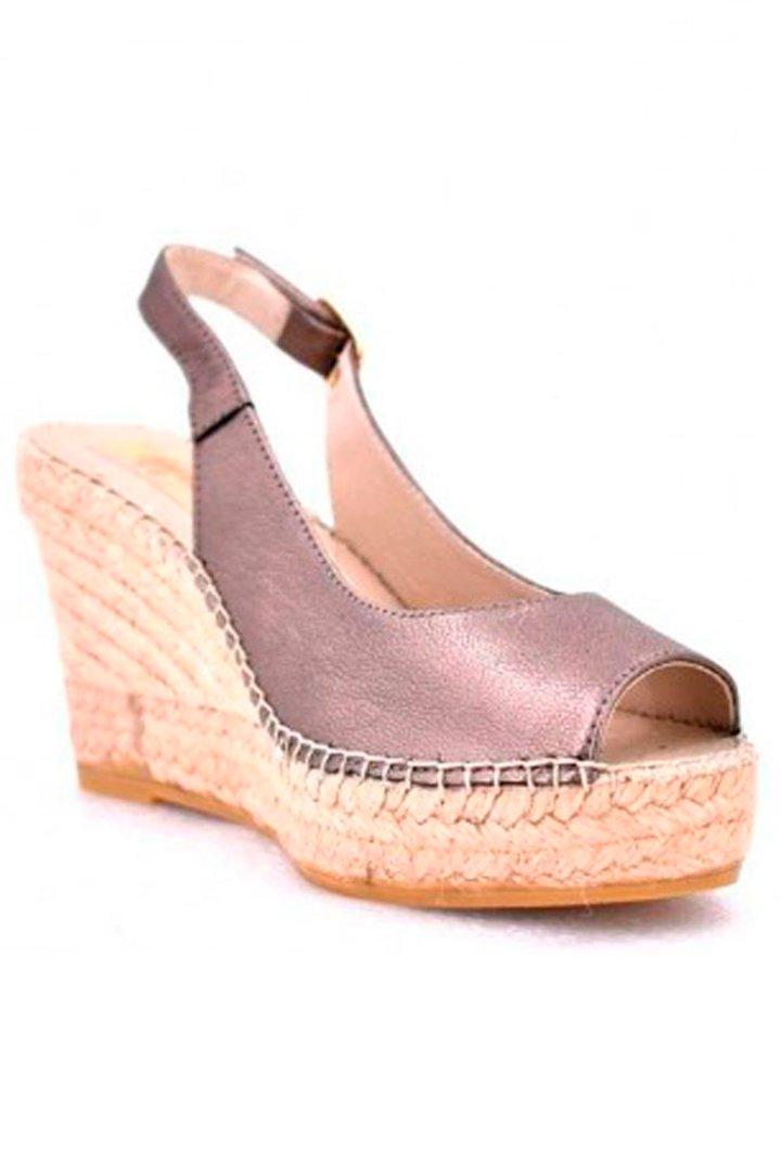 Sandalias con tacón cómodas de esparto de Rock & Shoes