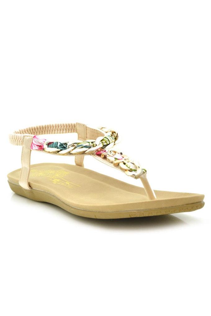 sandalia con trenza