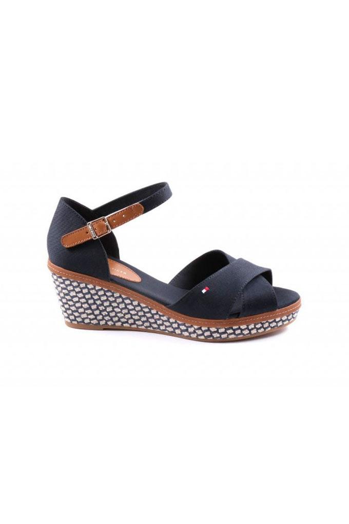 Sandalias con tacón cómodas en azul marino