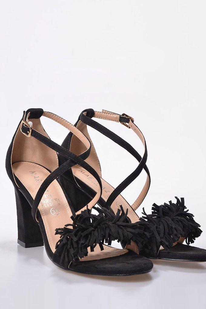 Sandalias con tacón cómodas en negro