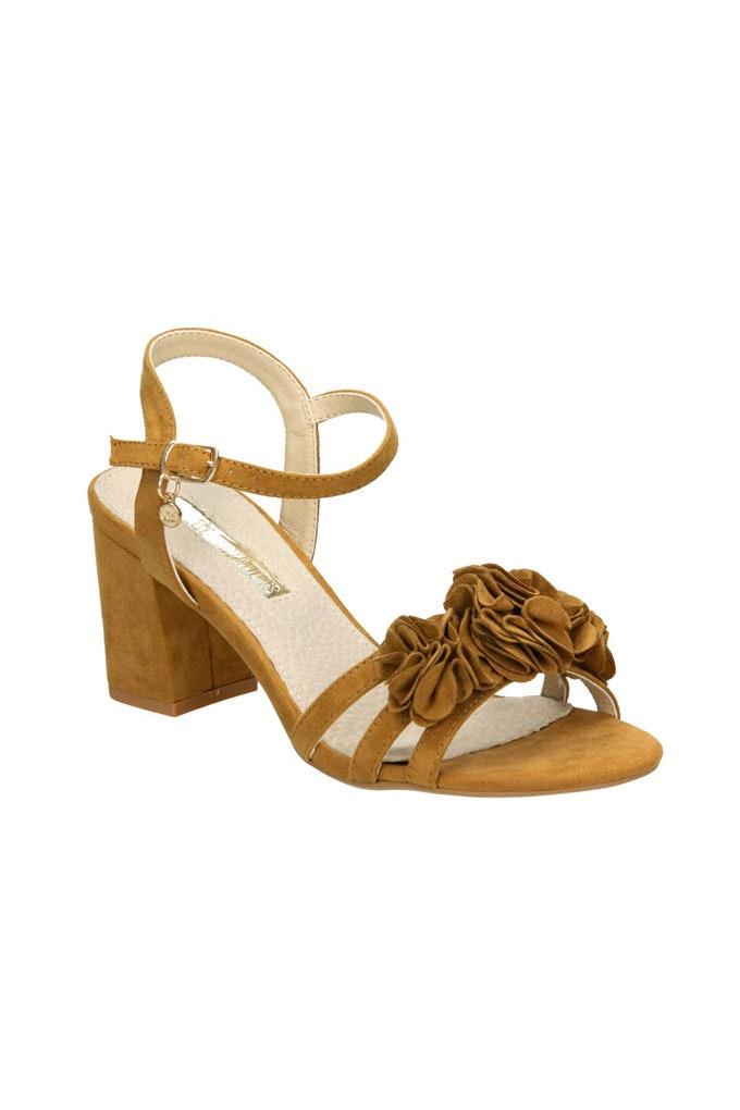 Sandalias con tacón cómodas de ante