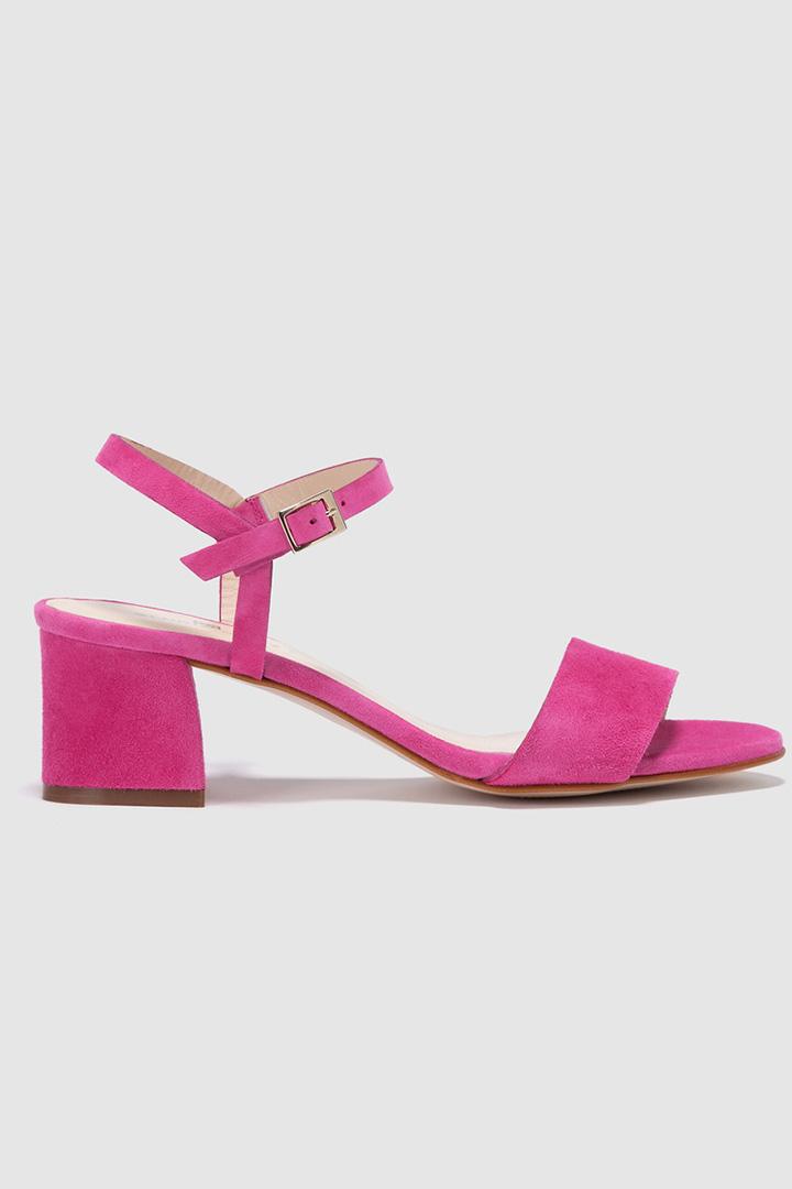 Sandalias de pulsera fucsias de Gloria Ortiz
