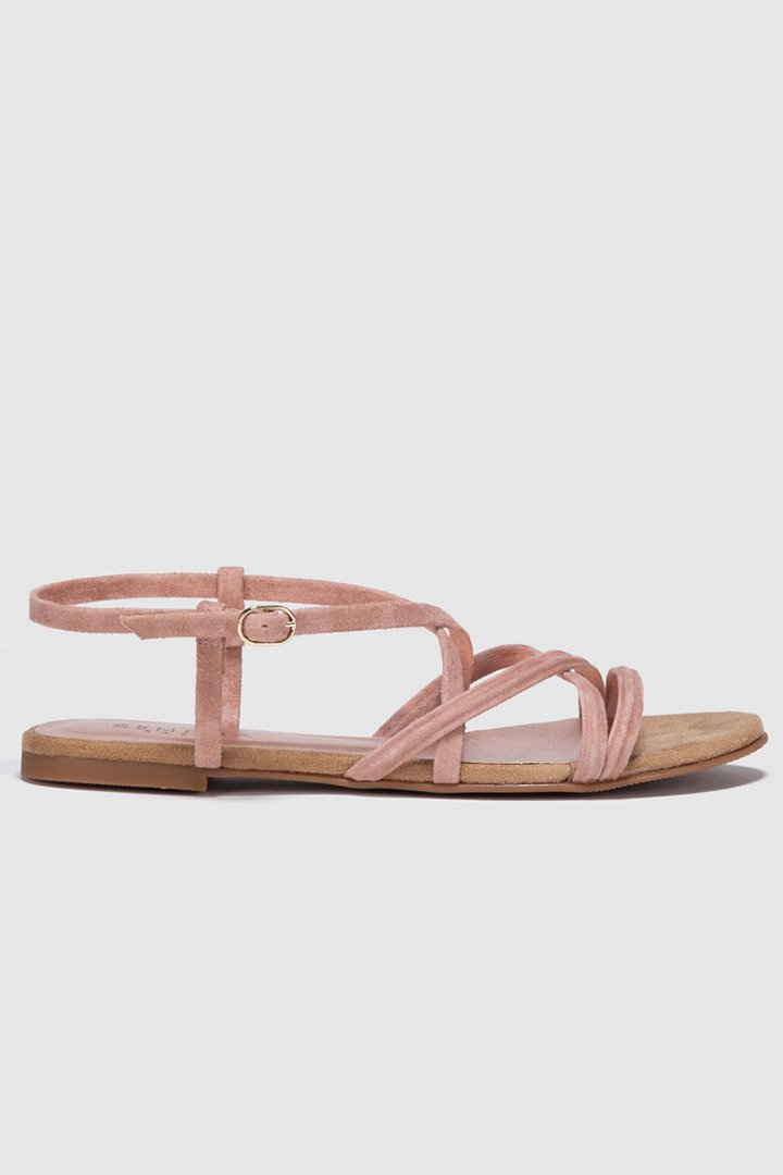 Sandalias de tiras rosas de Zendra