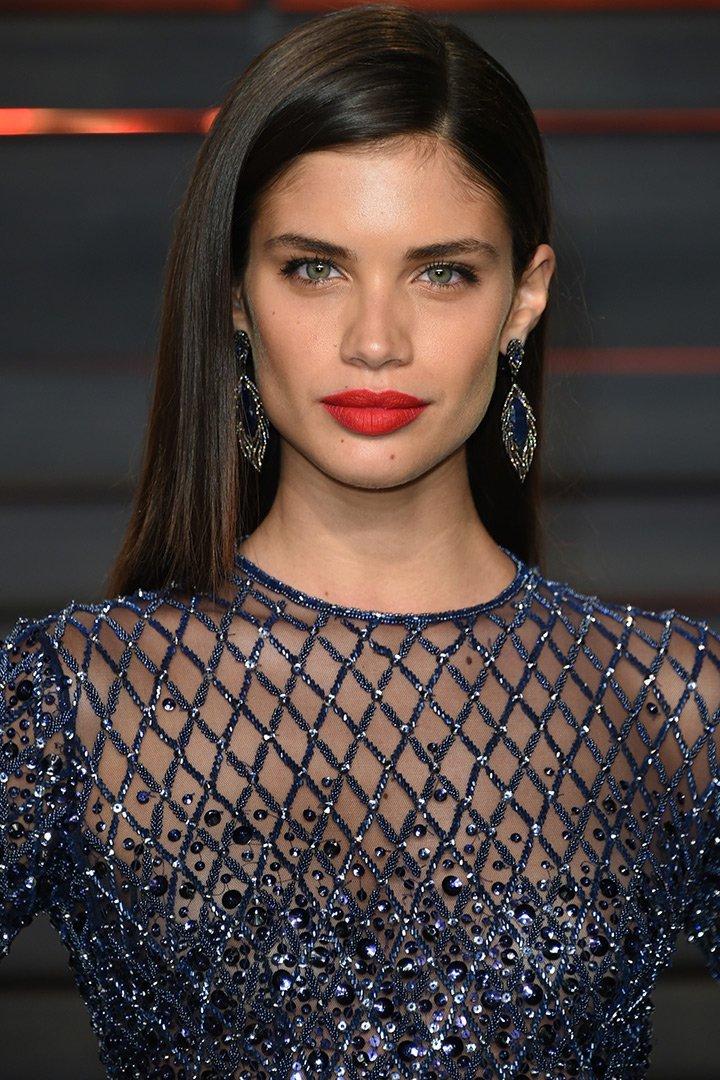 Maquillaje de navidad Sara Sampaio
