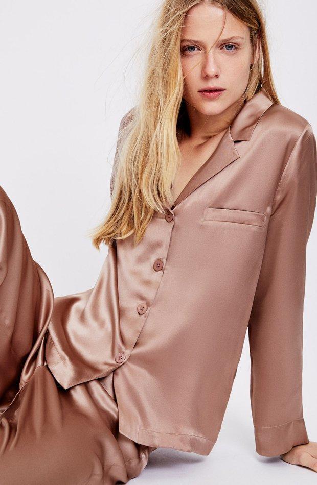 Pijama de seda premium de Oysho: pijamas
